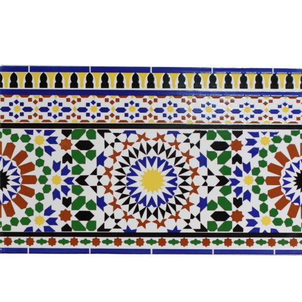 Marokkanische Fliesen-Bordüre Alhamra