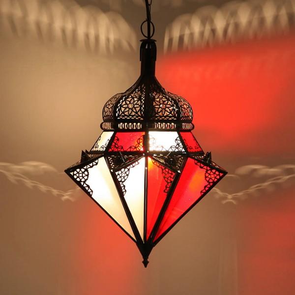 Hängeleuchte Jawhara Rot/weiß