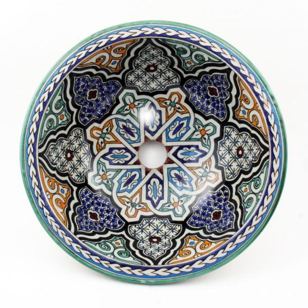 Orientalisches-Handbemaltes-Keramik-Waschbecken Fes39