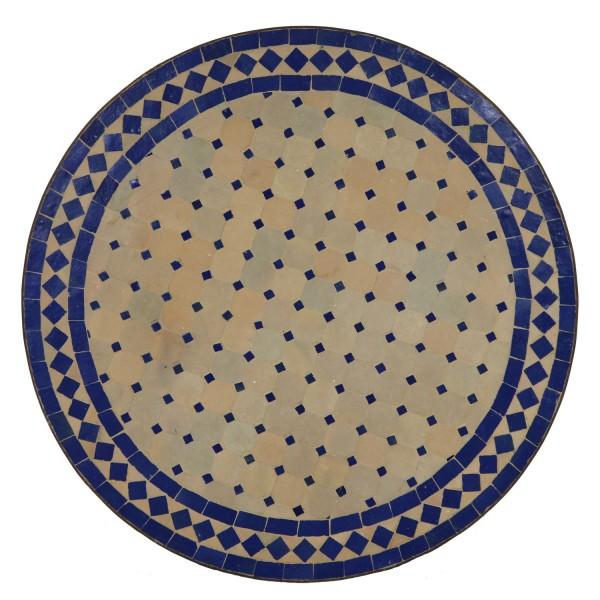 Mosaik Tisch 60cm aus Marokko Blau-Raute