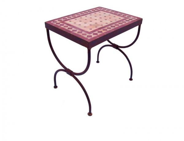 Mosaik-Beistelltisch L39 Bordeaux / terracotta