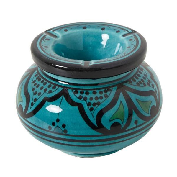 Keramik Aschenbecher Türkis