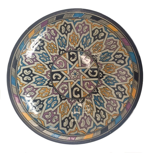handbemalte Keramikschale aus Marokko F031