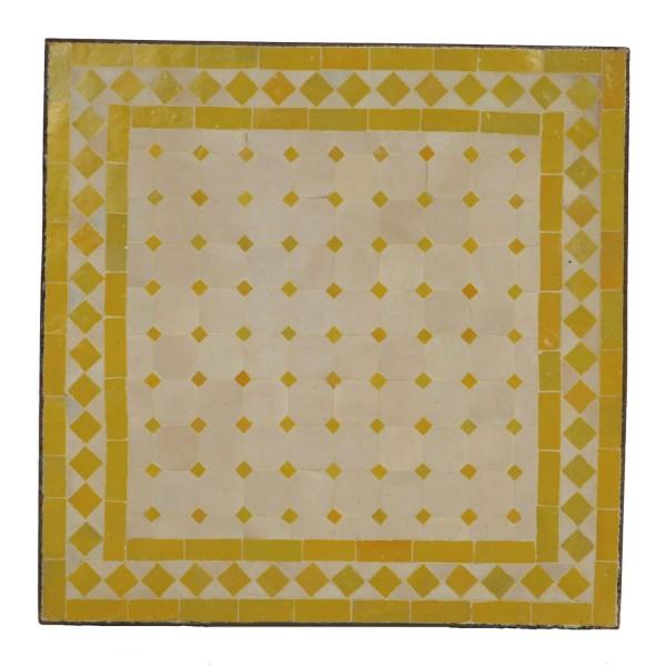 Mosaiktisch 45x45 Gelb-Raute