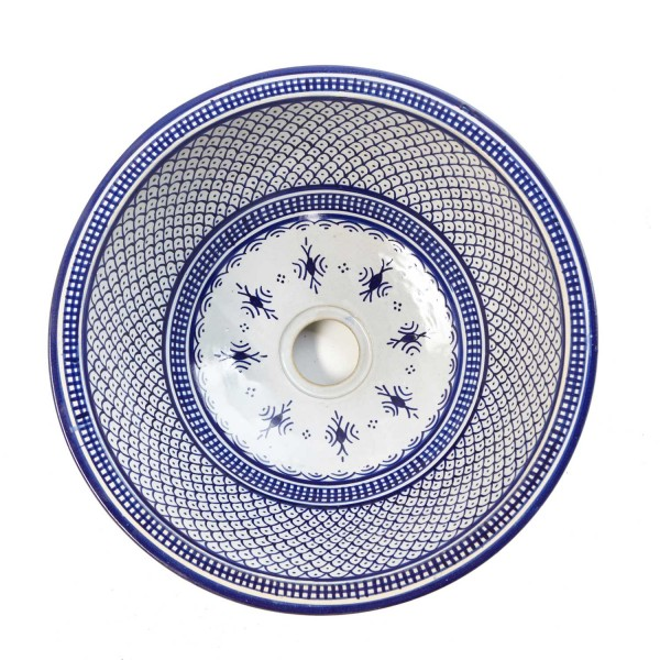 Orientalisches-Handbemaltes-Keramik-Waschbecken Fes32
