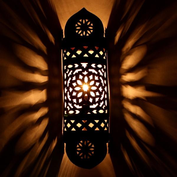 Orientalische Eisen Wandlampe EWL15