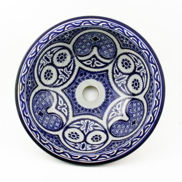 Orientalisches-Handbemaltes-Keramik-Waschbecken Fes38