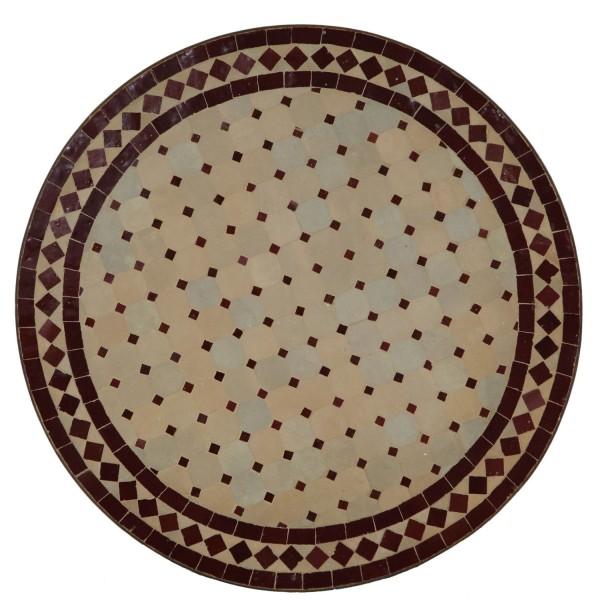 Mosaiktisch aus Marokko - Rund-M60-1