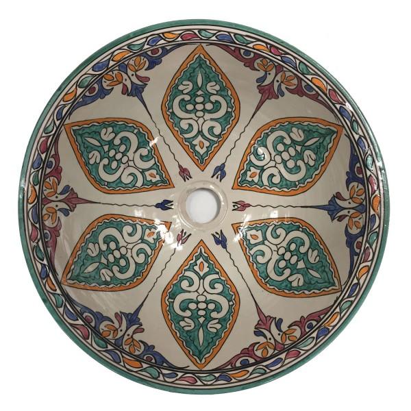 Orientalisches-Handbemaltes-Keramik-Waschbecken Fes18