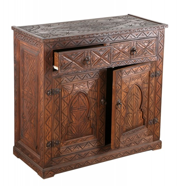 Marokkanische Holz Kommode Basim