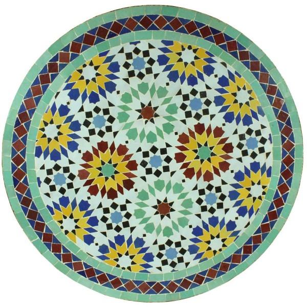 Mosaiktisch aus Marokko - Rund -M60-6