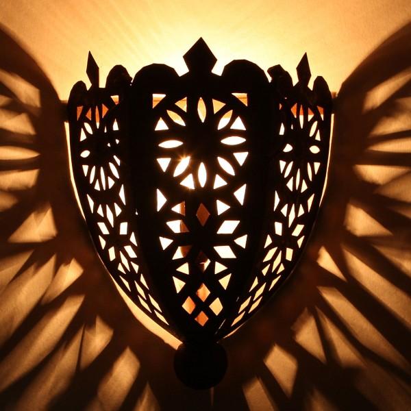 Orientalische Eisen Wandlampe EWL06