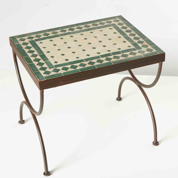 Mosaik-Beistelltisch L50 Grün / terracotta