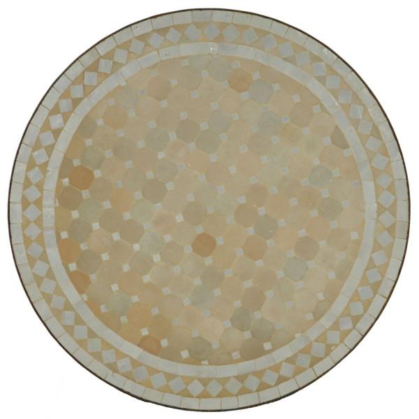 Mosaiktisch aus Marokko - Rund -M60-7