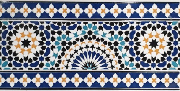Marokkanische Fliesen-Bordüre aus Marokko Meknes