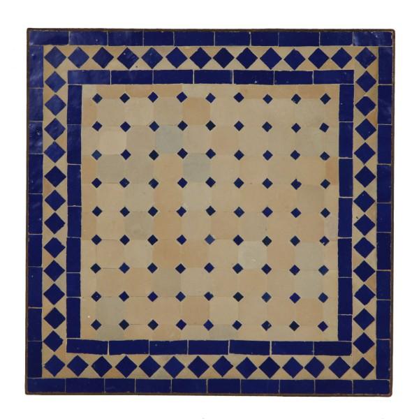 Mosaiktisch 45x45 Blau-Raute