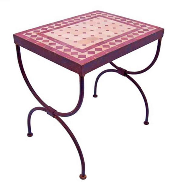 Mosaik-Beistelltisch L50 Bordeaux / terracotta