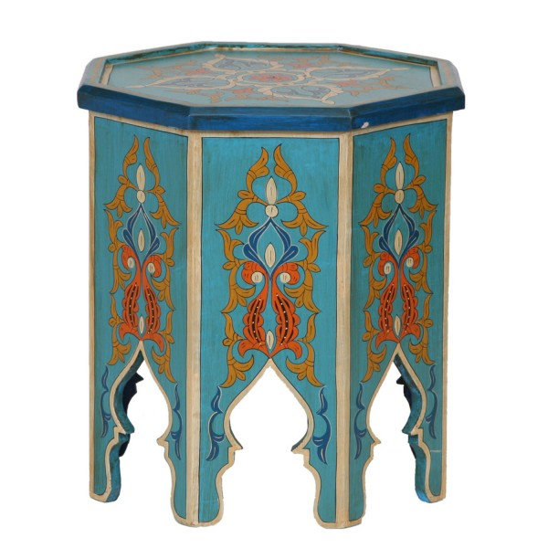 Marokkanischer Holz Beistelltisch Bader