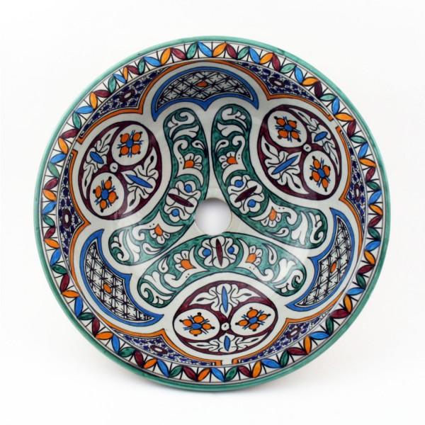 Orientalisches-Handbemaltes-Keramik-Waschbecken Fes51