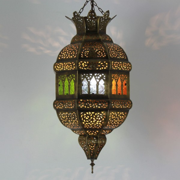 Messinglampe Tigana