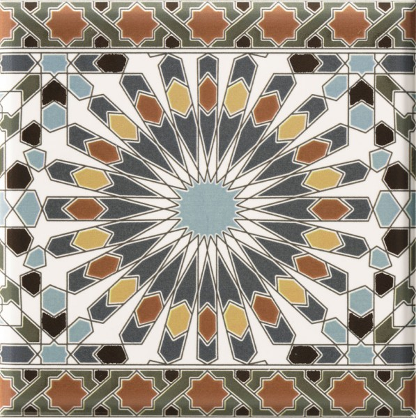 Marokkanische Fliesen-Bordüre Kasbah