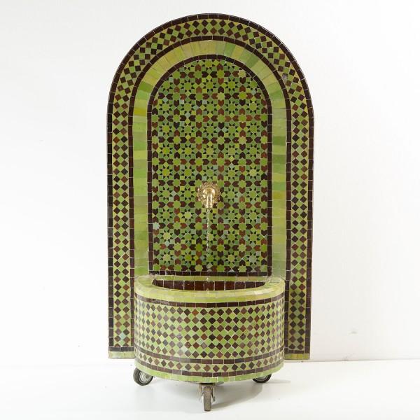 Mosaik- Brunnen Stern Grün