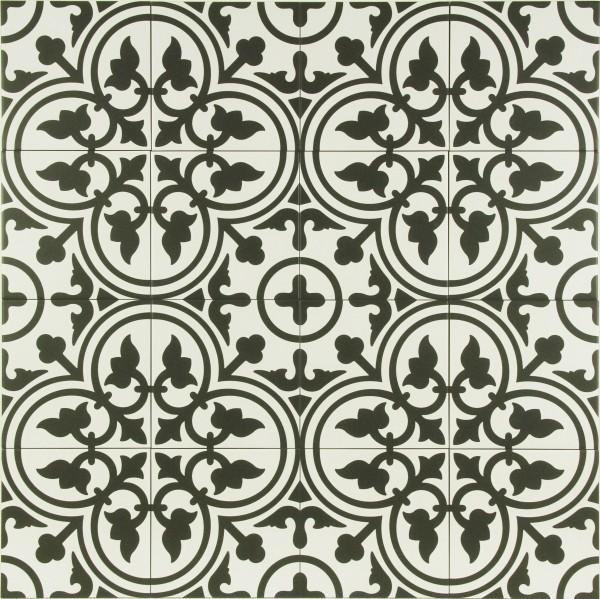 Marokkanische Fliese Flavie Blanc