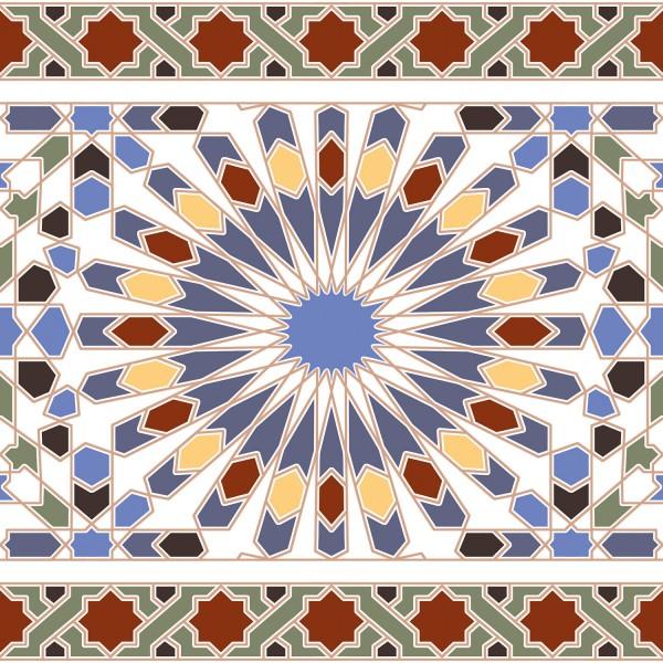 Marokkanische Fliesen-Bordüre Tanger