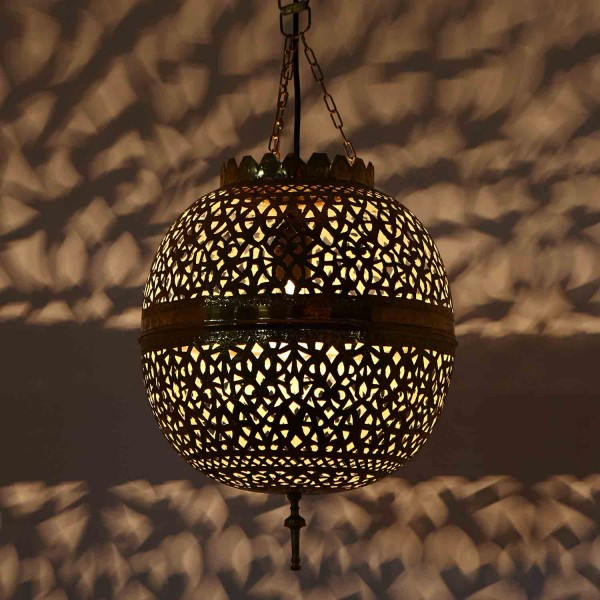Messinglampe Assiya Klein