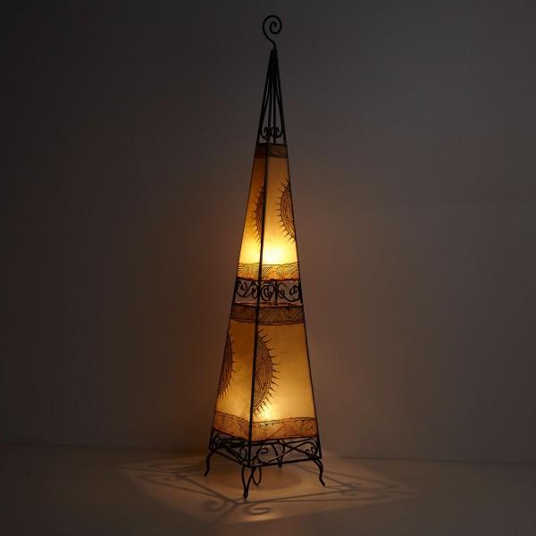 XL Lederlampe Raket H150 Natur