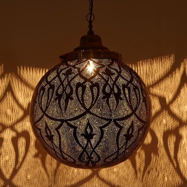 Messinglampe Taj