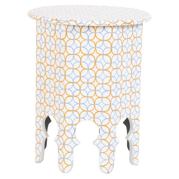 Marokkanische Leder Sitzkissen Asli Rosa