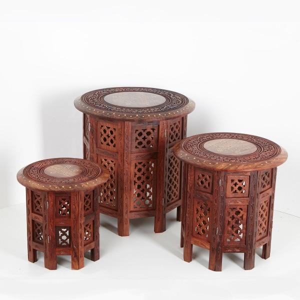 Orientalischer Beistelltisch Nail 3er Set